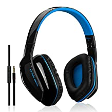 TurnRaise Bluetooth 4.1 Wireless Technology Headphones Headsets for HD Quality Stereo Sound, Low Latency, Enhanced Bass, In-line Mic, Up to 8 10 Hrs of Talking Time / 8 Hrs of Music Playing