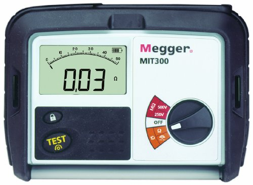 Megger MIT300-EN Insulation Tester, 1000 Megaohms Resistance, 250V, 500V Test Voltage by Megger
