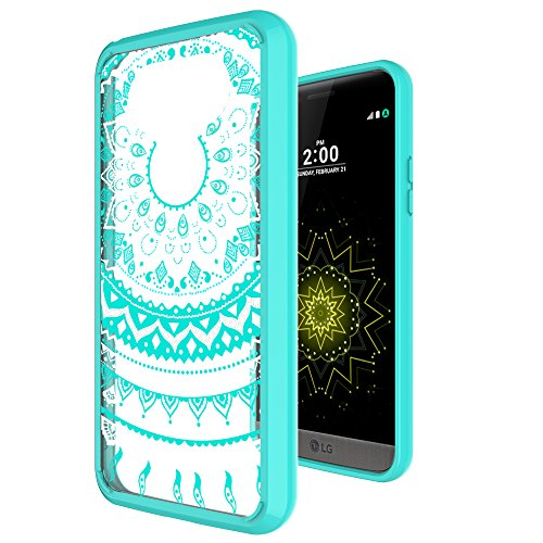 LG G5 Case Clear,LG G5 Phone Case ,AnoKe Scratch Resistant Mandala Ultra Thin Slim Fit Hard Back TPU Bumper Unlocked Cute Protective Cover Cases with Screen Protector for LG G5 Girls Women TM CH Mint