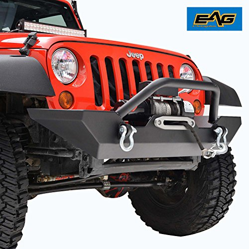 - EAG Jeep Wrangler JK Rock Crawler Front Bumper With Winch Plate