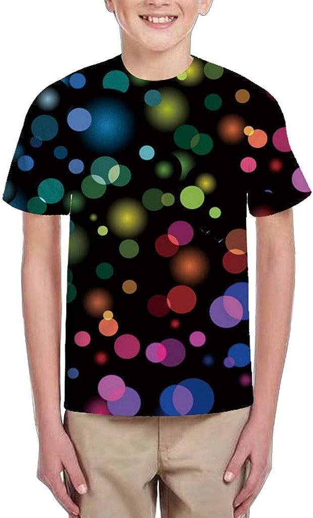 MORETIME Unisex Boy Girl 3D Graphic Printing T-Shirts Short Sleeve Crew Neck Print Tee Fitness Elastic Sweatshirt Top,Older Children 3D Printing Fitness Elastic Short Sleeve T-Shirt Top Blouse