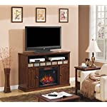 """ClassicFlame 23MM0925-O125 23"""" Sedona TV Stand for TVs up to 57"""", Caramel (Electric Fireplace Insert sold separately)"""