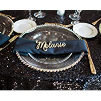 Wood Place Card Names Cutouts for Wedding Party or Event, Small Laser Cut Wood Name Escort Place Card for Table Decorations
