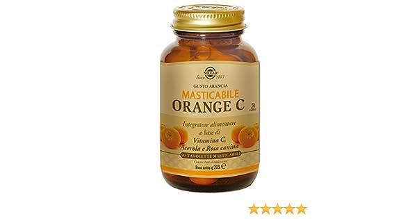 Vitamina C (Naranja) Masticables 90 comprimidos de 500 mg de Solgar: Amazon.es: Salud y cuidado personal