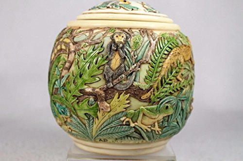 Magical Realism Rainforest Jardinia Harmony Kingdom Lidded Cache Pot