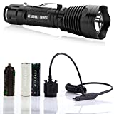 Supernova Guardian 1300XL Professional Series Ultra Bright Rechargeable Tactical LED Flashlight with Remote Pressure Switch and BrightStart Technology