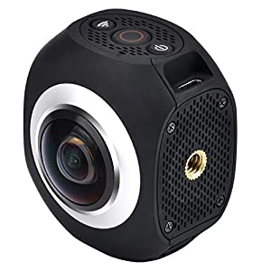 "Panorama Video Camera,Powpro Ppan PP-360S Wifi 1"" Portable 360° VR Action Camera With Double 220° fish-eye lens Digital Camera by Powpro"