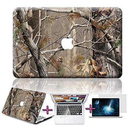 FidgetGear 3in1 Tree Camo Rubberized Painted Hard Case for MacBook Pro Air 11