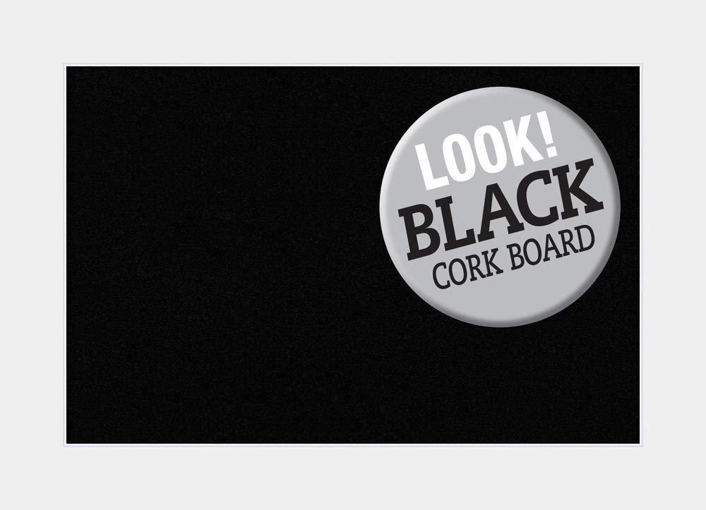 Amanti Art Framed Wood Black Cork Board Medium Corvino White