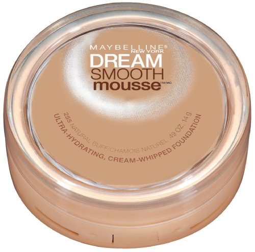 Maybelline New York Dream Smooth Mousse Foundation, Natural Buff, 0.49 Ounce