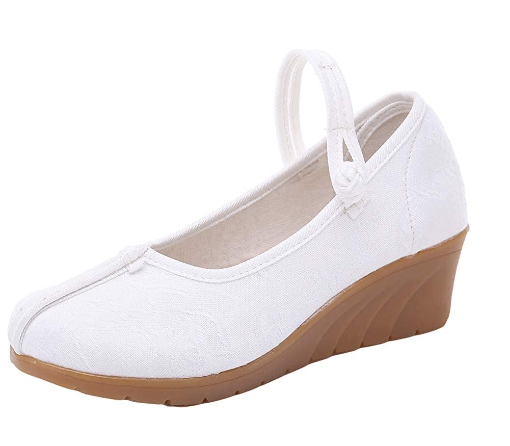 Icegrey Mary Jane Chaussures Compensées Style Chinois Baskets Occasionnels