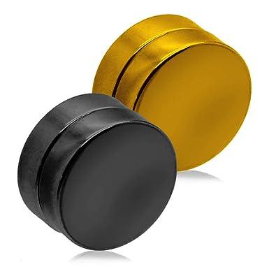 tumundo Plugs Falso Magnético Imán Pendientes Fake-Plug Tunnel Piercing 6-12mm No Agujero