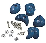 Climbing Wall Holds Pack of 10 High Grip Poly Resin Climbing Stones (Blue, 5 Pack)