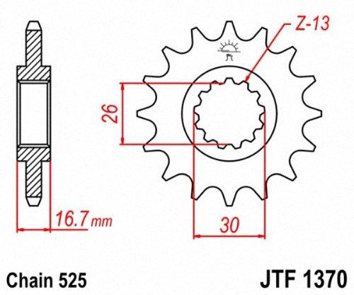 JT Pi/ñones jtf1370.15/Frontal de Acero pi/ñ/ón 15T