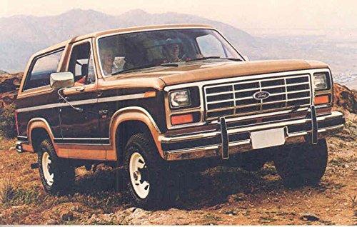 1984 Ford Bronco ORIGINAL Factory Postcard