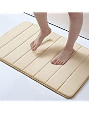 Memory Foam Bath Mat Large Size 31.5 by 19.8 Inches, Maximum Absorbent, Soft, Comfortable, Non-Slip, Thick, Machine Wash, Easier to Dry for Bathroom Floor Rug