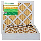 FilterBuy 12x12x1 MERV 11 Pleated AC Furnace Air Filter, (Pack of 4 Filters), 12x12x1 – Gold