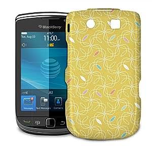 Phone Case For BlackBerry Torch 9800 9810 - Retro Yellow Swirls 60s Protective Hardshell