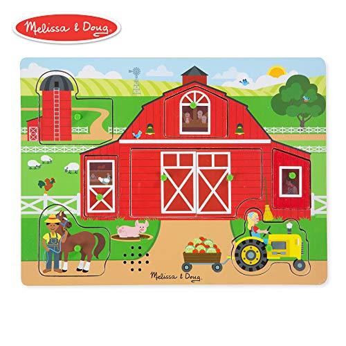 Melissa & Doug Around The Farm Sound Puzzle ( 8 ()
