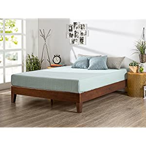 Zinus 12 Inch Wood Platform Bed/No Boxspring Needed/Wood Slat Support/Antique Espresso Finish, Twin