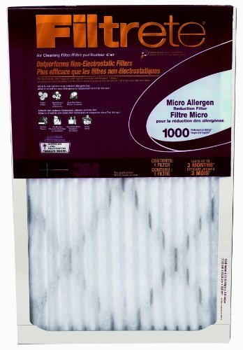 Filtrete Micro Allergen Defense Filter, MPR 1000, 12 x 24 x 1-Inches, 6-Pack by 3M
