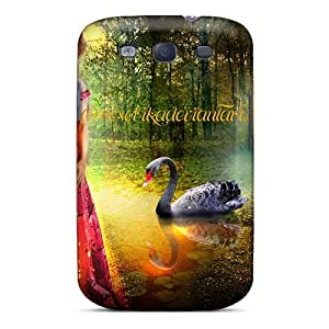 lintao diy Fashionable HKOckpC2228dBUOb Galaxy S3 Case Cover For The Nymph Of The Black Swan Protective Case