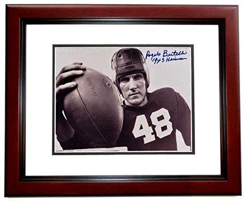 Angelo Bertelli Signed - Autographed Notre Dame Fighting Irish 8x10 inch Photo - Deceased 1999 - 1943 Heisman Trophy Winner - MAHOGANY CUSTOM FRAME - Guaranteed to pass PSA or ()