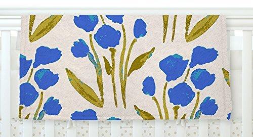 KESS InHouse Gukuuki Shirley Gem Blue Green Fleece Baby Blanket 40 x 30 [並行輸入品]   B077ZP7RPM