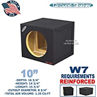 JL W7 10 Single Sealed Sub Box Reinforced Subwoofer box
