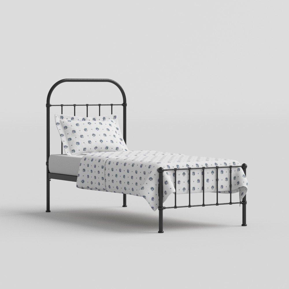 The Original Bed Co. Cama De Metal Solomon Cama De Estructura De Hierro Satén Negro 90 x 190 CM: Amazon.es: Hogar