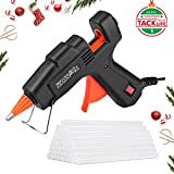 Tacklife GGO20AC Mini Hot Glue Gun with 30 Pcs EVA Glue Sticks | 20w | Flexible Trigger High Temp Overheating Protection and Heating up Quickly Hot Melt Glue Gun for DIY Small Craft and Quick Repairs
