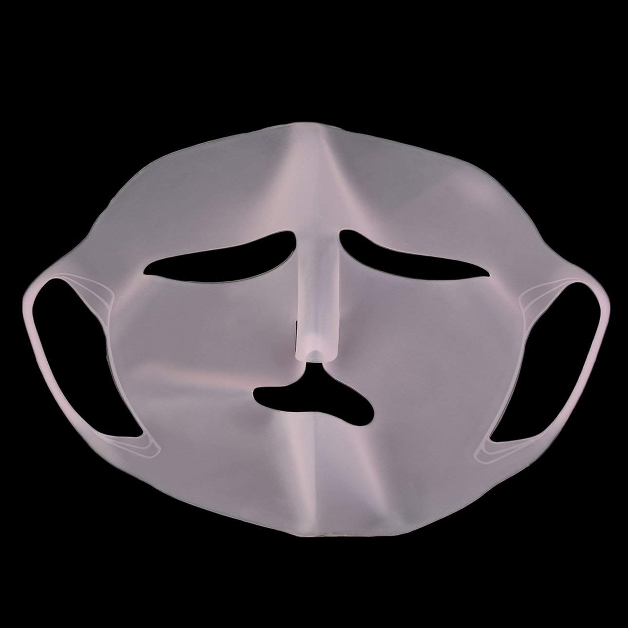 Liobaba Mask Cover, Reusable Silicone Facial Mask Cover, Ear Hook Mask Cover for Sheet Prevent Evaporation