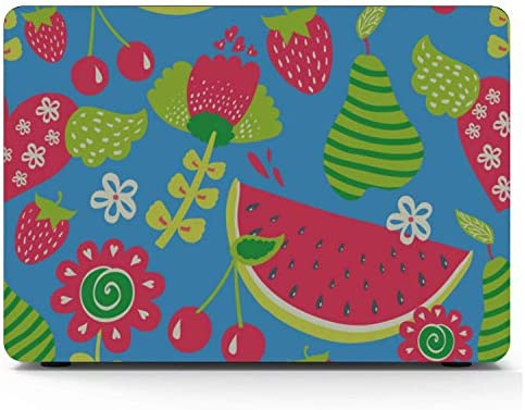 Protective MacBook Pro Case Summer Fruit Watermelon Green Leaf Plastic Hard Shell Compatible Mac Air 11 Pro 13 15 Mac Case Protection for MacBook 2016-2019 Version
