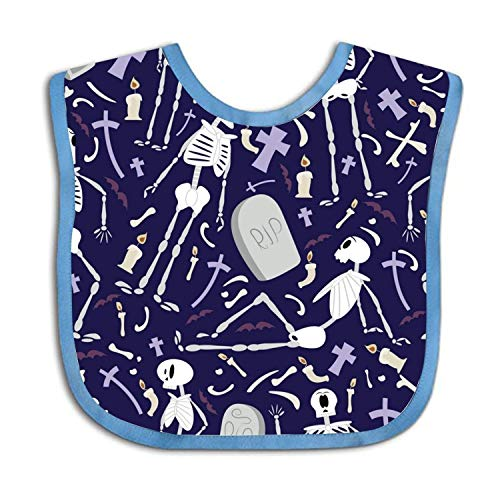 Lakssn Soft,Absorbent,Cotton Polyester,Rip Ghost Feeding Bibs Adjustable Teething Bib Waterproof Bib for Baby Toddlers