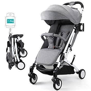 Fascol Silla de Paseo Portátil Cochecito Ligero Plegable Carrito Bebé Se puede almacenar en el Avión Cochecito para bebe 6-36 meses, Gris