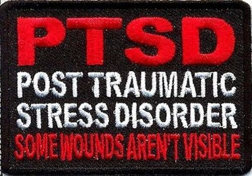 (PTSD Some Wounds Aren't Visible POW Military VET MC Club BIKER Patch PAT-1467 )