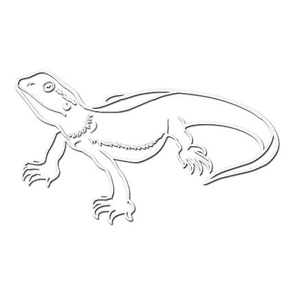 Amazoncom Bearded Dragon Star Decal Sticker White 5 Vinyl Decal