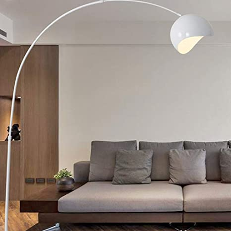 Floor Lamp, Lampadaire moderne en arc de salon jaune grande ...