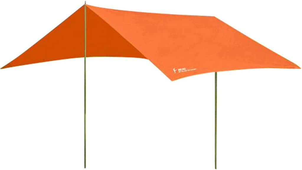 5 Colors Generic 3 x 2.9 Meters Waterproof Polyester Outdoor Camping Awning Tarp Tent Canopy Cover Sunshade Shelter Tent Poles Tool Kit with Storage Sack