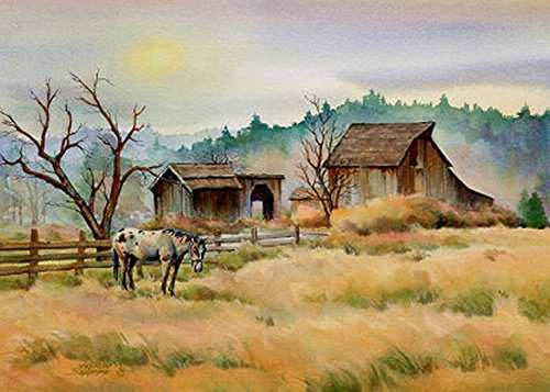 - OLD BARN & APPY by SHARON SHARPE