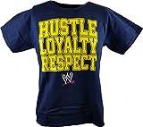Hybrid Tees John Cena Kids Boys Navy Blue T-Shirt HLR Hustle Loyalty Respect-YL