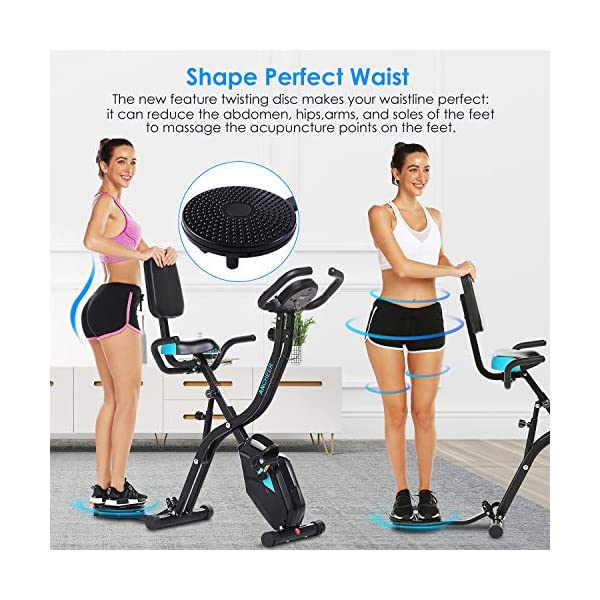 Details about  /ANCHEER 3 in 1 Exercise Bike Slim Folding Bike Fitness Stationary Magnetic Cycle