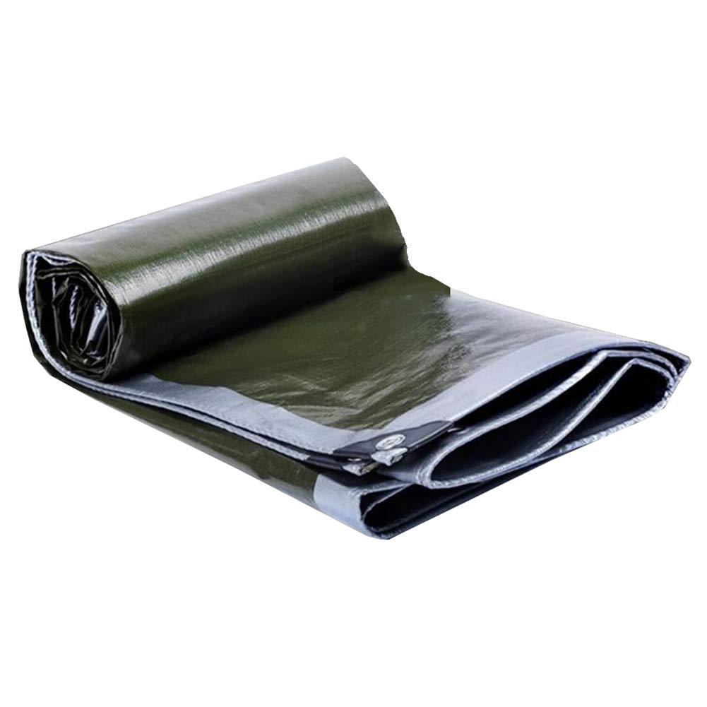 MUMA ターポリン PE 厚い 耐寒性 日焼け止め 防水 覆う 雨 キャンバス カスタマイズ (色 : 銀 - dark 緑, サイズ さいず : 15*20m) 銀 - dark 緑 15*20m