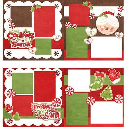 (Two Printed Layouts - Making Cookies for Santa & Treats for Santa - 2-2 Page 12x12 Kits & Bonus: 2 Duplicate 6