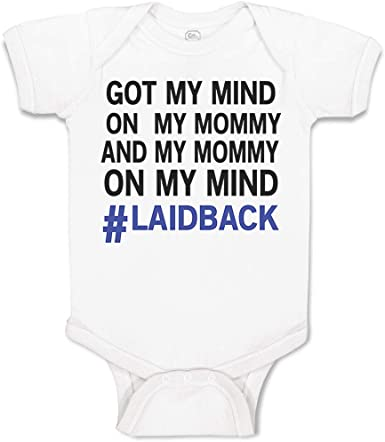 Infant Baby Boy Gifts Mind on Mommy and Mommy on my Mind Funny Baby Boy Clothes Baby Shower Gift Newborn Outfit Organic Baby Clothes