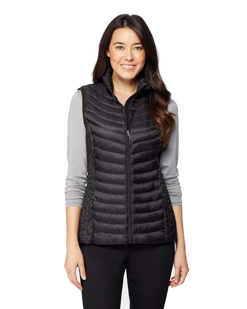 32 DEGREES Womens Ultra-Light Down Packable Vest, Black, Size Medium by 32 DEGREES
