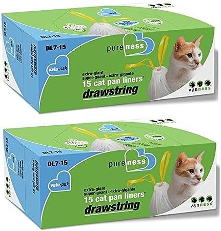 Extra Giant 4 Pack Pureness Large Drawstring Valu-Pak Cat Pan Liners,