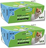 Pure-Ness Drawstring Cat Pan Liners - Pack of 2 (15-Count X 2)