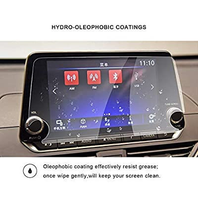 2020 Nissan Altima 2020 Nissan Sentra NissanConnect 8Inch Navigation Screen Protector Center Touch Display Anti Scratch High Clarity Clear HD Tempered Glass Protective Film: GPS & Navigation