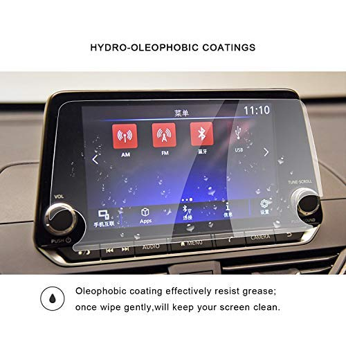 2019 Nissan Altima NissanConnect 8Inch Navigation Screen Protector Center Touch Display Anti Scratch High Clarity Clear HD Tempered Glass Protective Film RUIYA